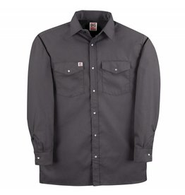 BIG-BILL Big Bill Work Shirt M-Long Grey