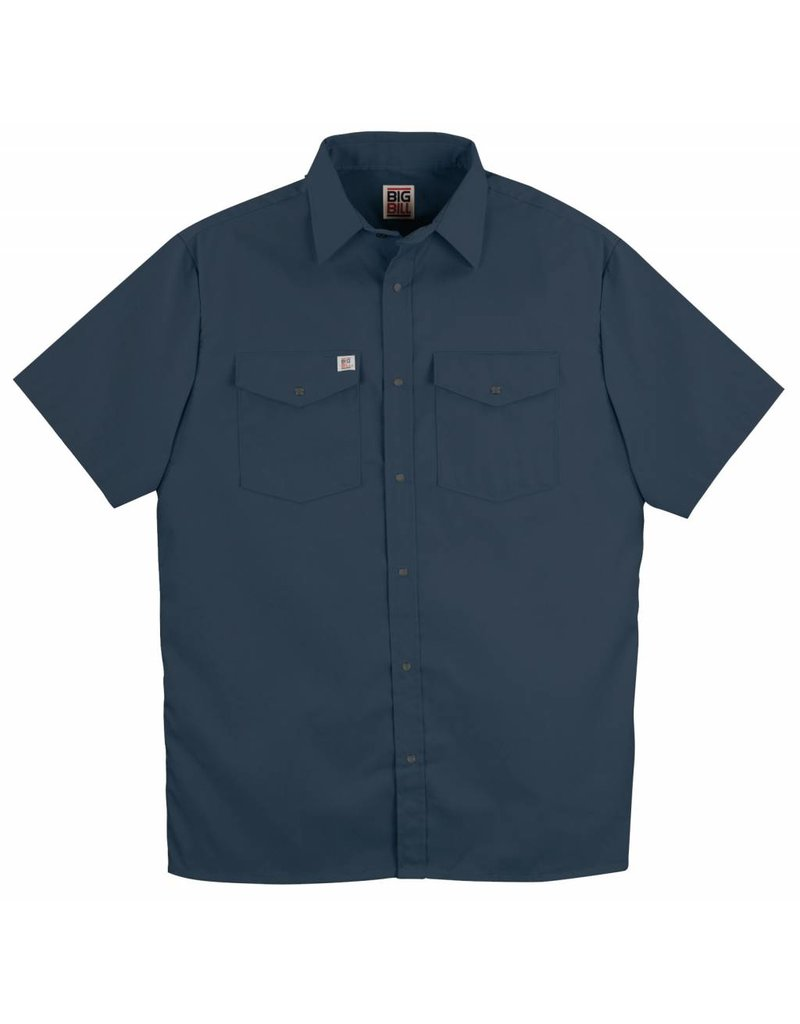 BIG-BILL Navy M-Short Big Bill Work Shirt