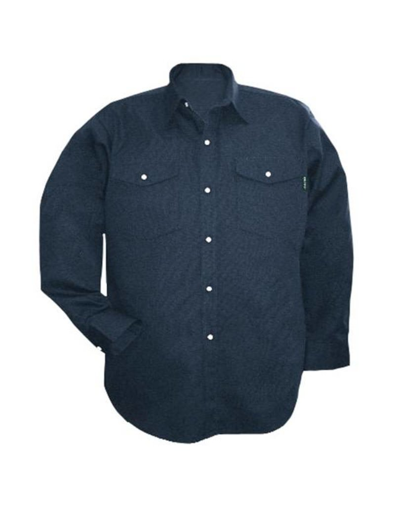 GATTS 625-S M-Long navy Work Gatting Shirt