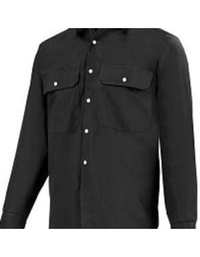 GATTS 625-S M-Long Black Work Gatts Shirt