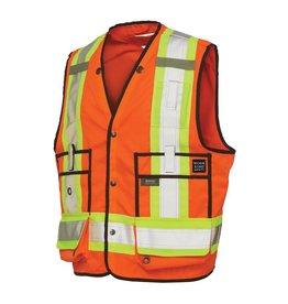 WORK KING High Visibility Reflective Surveyor Jacket 3 M Tough Duck