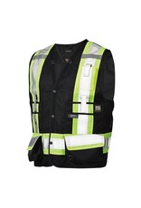 WORK KING High Visibility Reflective Surveyor Jacket 3 M Tough Duck