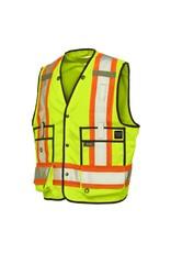 WORK KING Veste d'arpenteur haute visibilité réflectif 3 M Tough Duck
