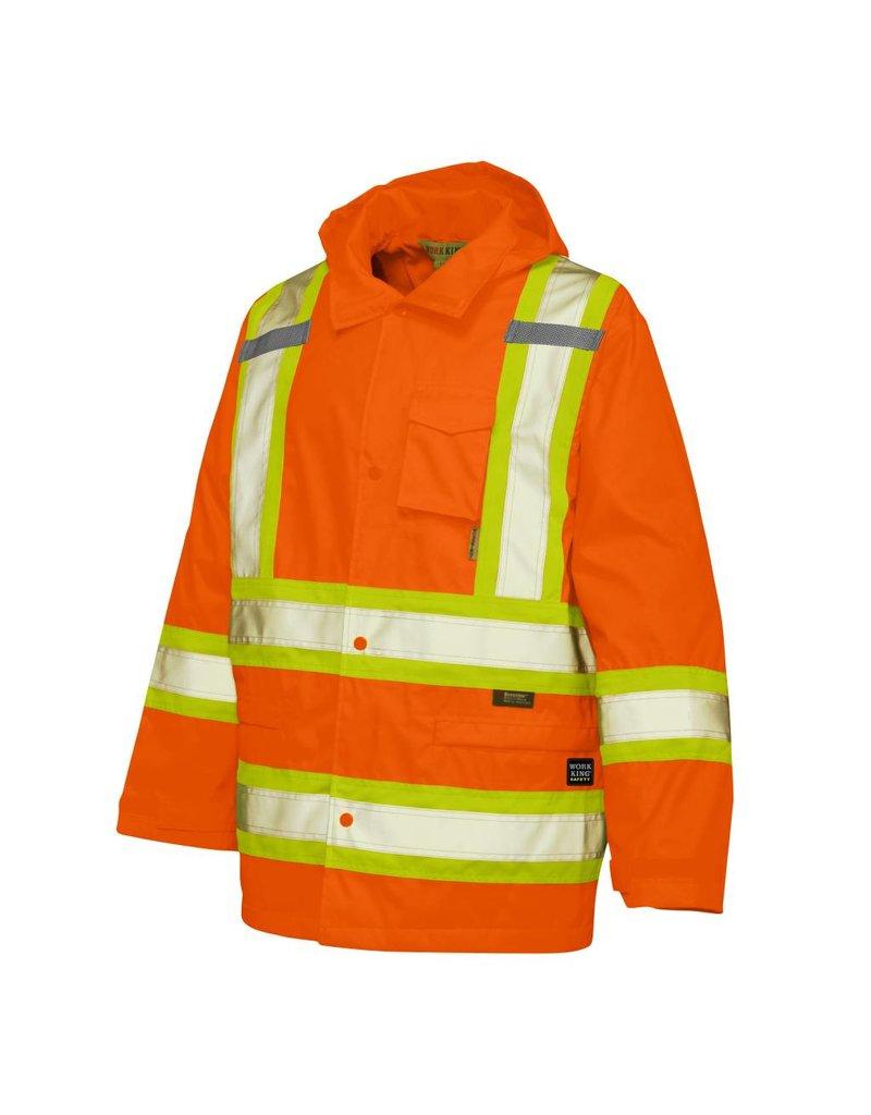 WORK KING Manteau Impermeable Réflectif Orange-vert lime Work King S372