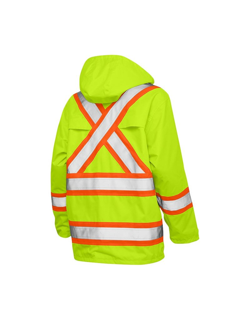 WORK KING Reflective Raincoat Orange Work King S372