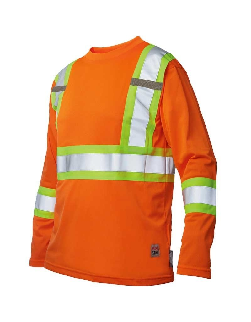 WORK KING High Visibility Long Sleeve Work King Sweater