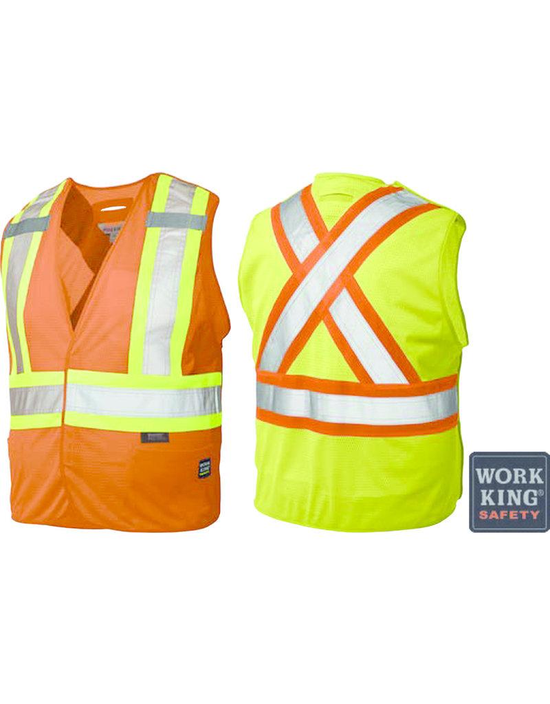 WORK KING Veste Réflectif Signaleur Fluo Work King
