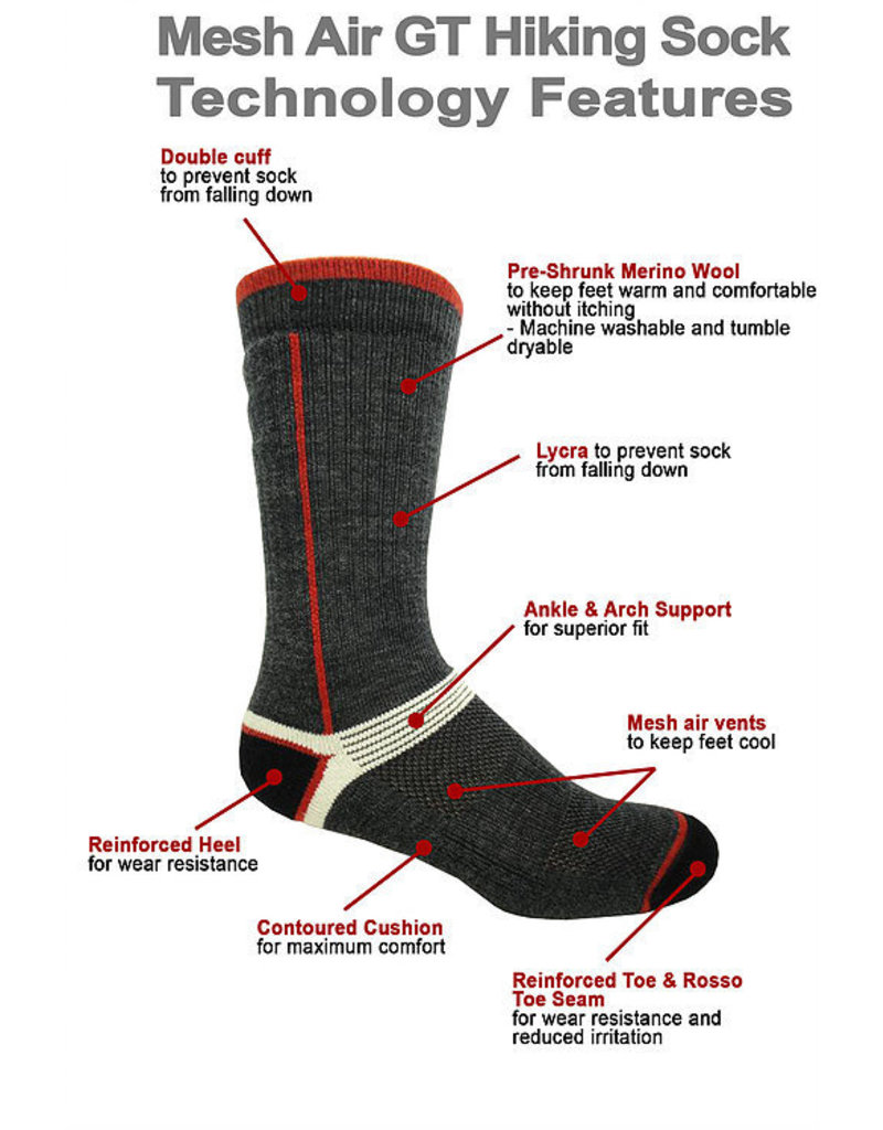JB FIELD Merino Hiking Wool Socks J.B FIELD'S