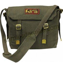 WORLF FAMOUS 100% Cotton Canvas World Famous Shoulder Bag