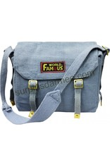 WORLD FAMOUS 100% Cotton Canvas World Famous Shoulder Bag