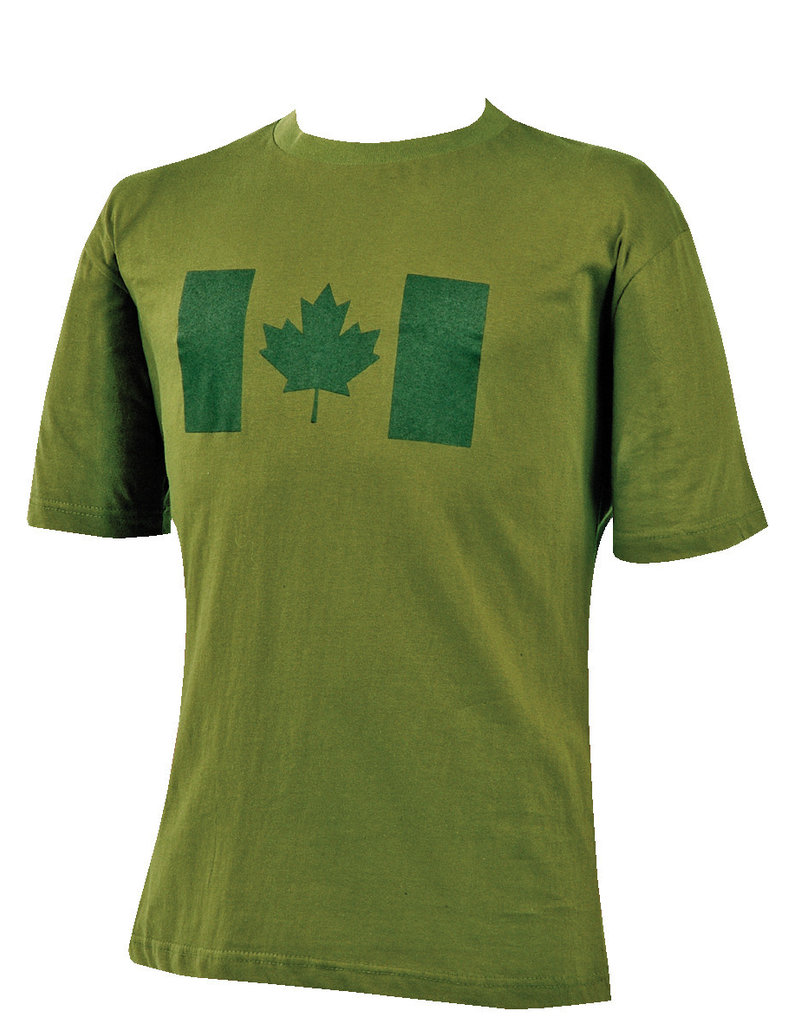 MIL SPEX Chandail T-Shirt Olive Drapeau Canada Style Militaire