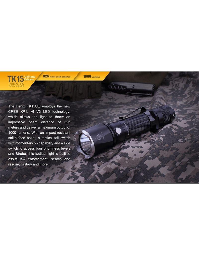 FENIX Lampe de poche tactique 1000 Lumens Fenix TK15UE