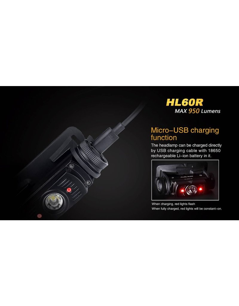 FENIX Fenix HL60R Dual Light Source Rechargeable Headlamp