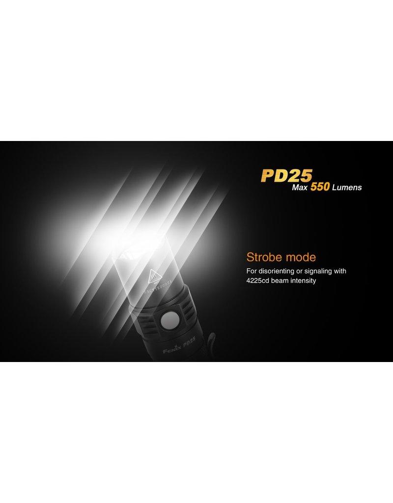 FENIX Lampe de Poche Tactique 550 Lumens PD25 Fenix