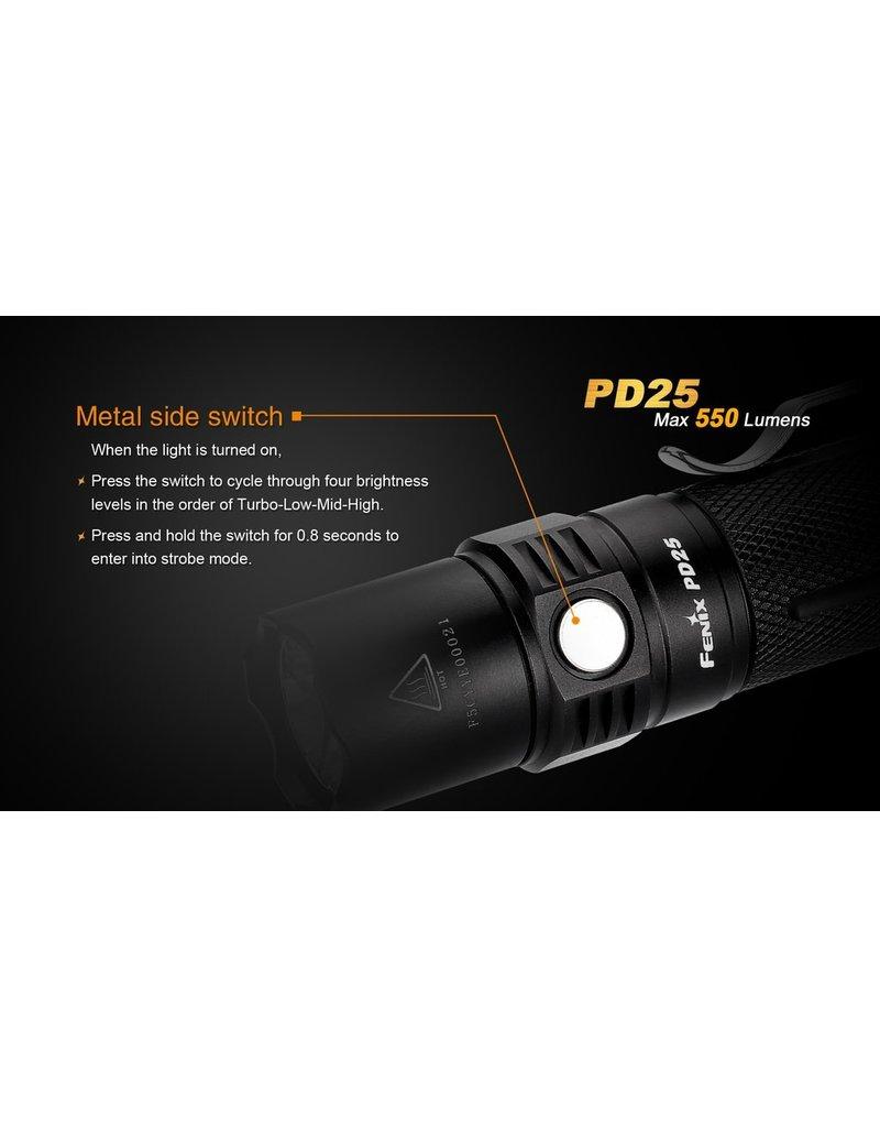 FENIX Flashlight Tactical 550 Lumens PD25 Fenix