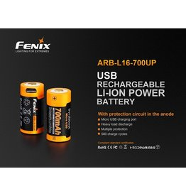 FENIX Rechargeable Battery Style CR123 16340 ARB-L16 700UP Fenix
