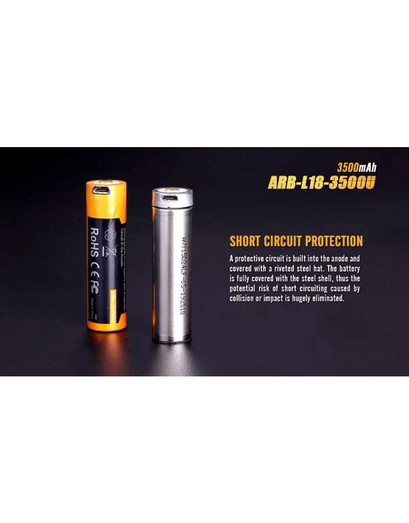 FENIX Fenix ARBL18 High-Capacity 18650 Battery - 3500U mAh