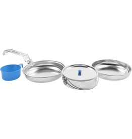 WORLD FAMOUS Set Lunch Box Aluminum Mess Kit World Famous