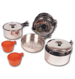 NORTH 49 Set Cuisine Large Camping Gamelle Stainless North 49