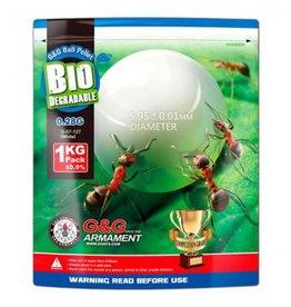 G&G Airsoft Bio 0.28g G & G Bag (1kg) White Balls (BBs)