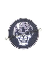 SHADOW Patch PVC Velcro Warrier Skull