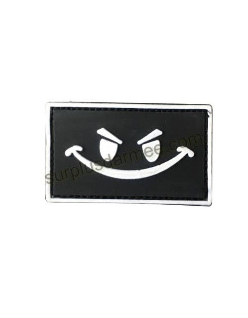 SHADOW Patch PVC Velcro Smiley Face