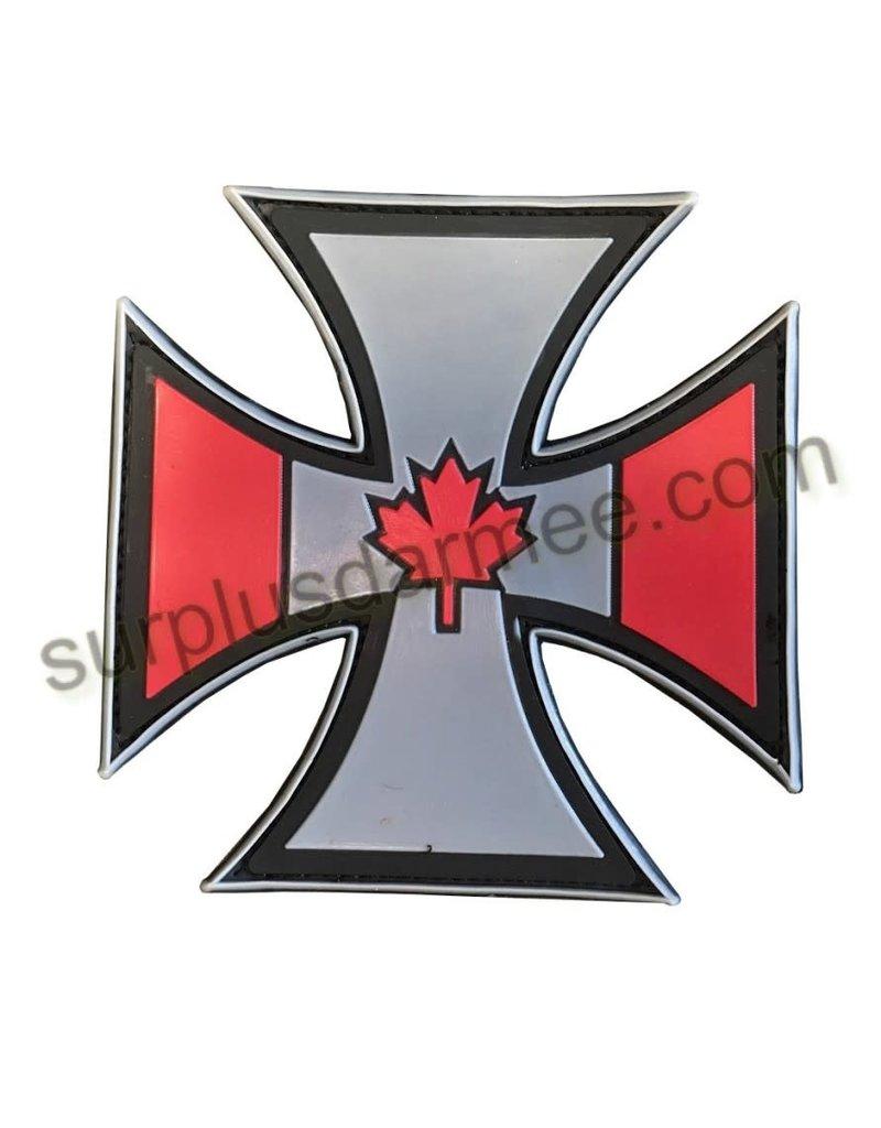 SHADOW Patch PVC Velcro Croix Canadian Patriotic