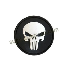 SHADOW ELITE Patch PVC Velcro Skull Glow in The Dark