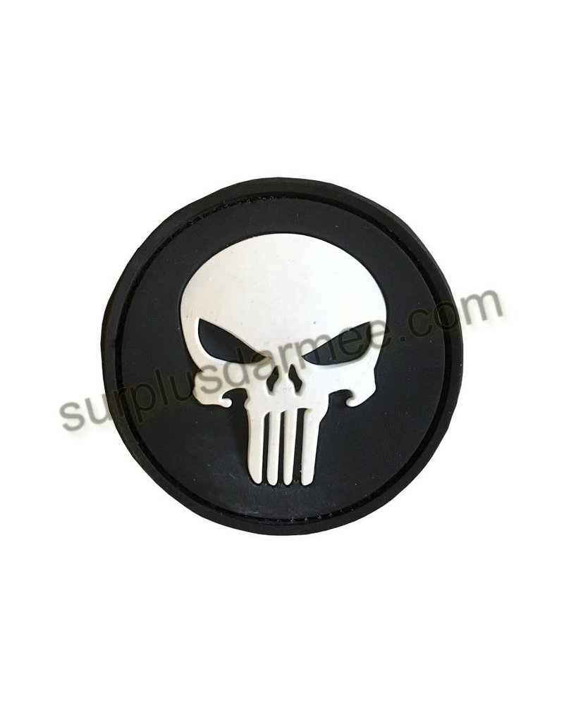 Patch PVC Velcro Skull Glow in The Dark - Army Supply Store