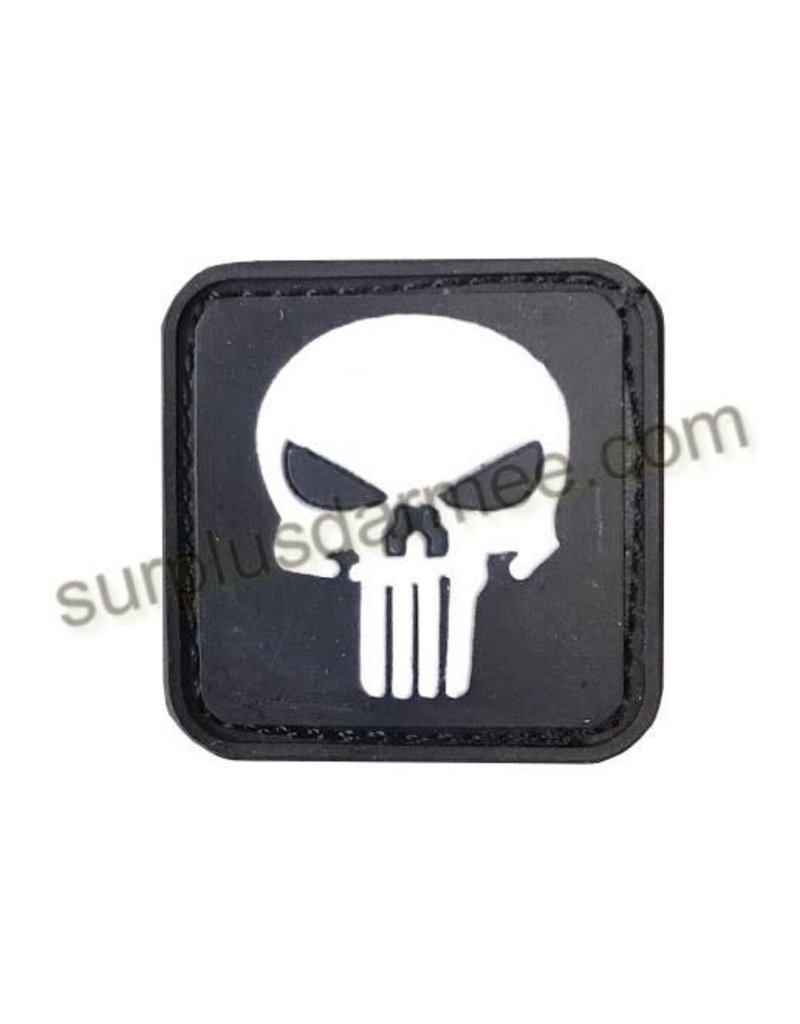 SHADOW Patch PVC Velcro Skull