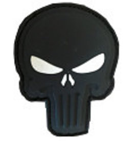 SHADOW ELITE Patch PVC Velcro  skull blk / with