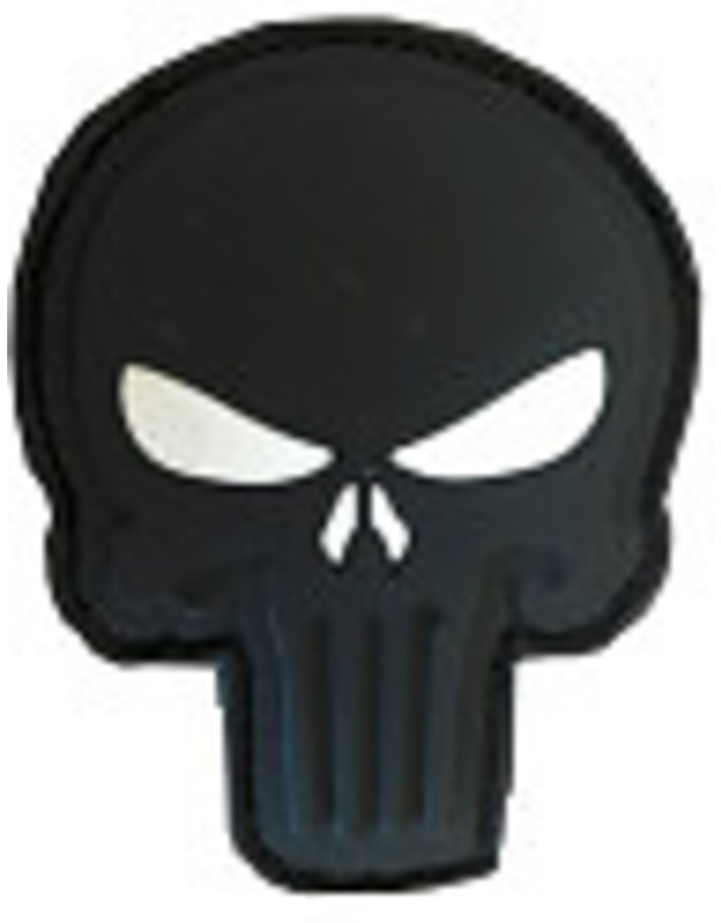 SHADOW Patch PVC Velcro  skull blk / with