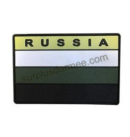 SHADOW ELITE Patch PVC Velcro Russia Drapeau Vert