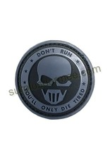 SHADOW ELITE Patch PVC Velcro Don,t Run (Skull)