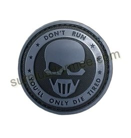 SHADOW ELITE Patch PVC Velcro Don,t Run (Skull)