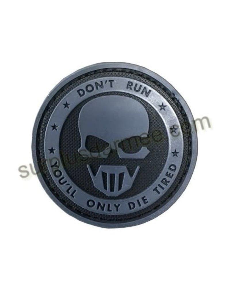 SHADOW Patch PVC Velcro Don,t Run (Skull)