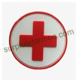 SHADOW ELITE Patch PVC Velcro Croix Rouge Medic Red / White