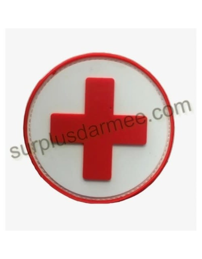 SHADOW Patch PVC Velcro Croix Rouge Medic Red / White