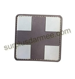 SHADOW ELITE Patch PVC Velcro Croix Medic Brown/tan