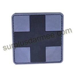SHADOW Patch PVC Velcro Croix Medic Blk/Grey