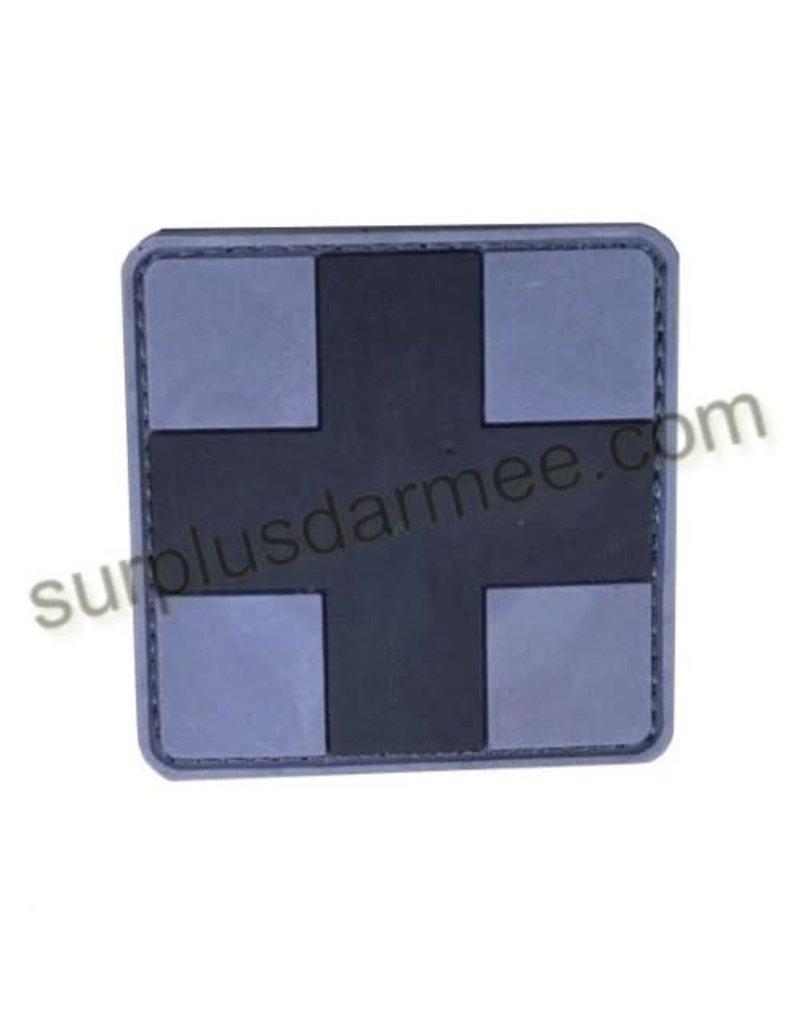 SHADOW ELITE Patch PVC Velcro Croix Medic Blk/Grey