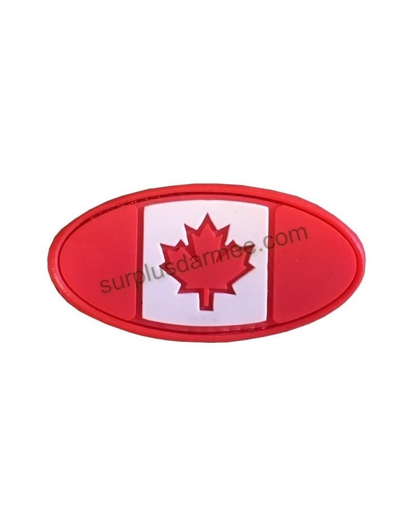 SHADOW Patch Canada PVC Velcro Canadian Oval Flag