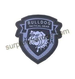 SHADOW ELITE Patch PVC Velcro Tactical BullDog Blk/Grey
