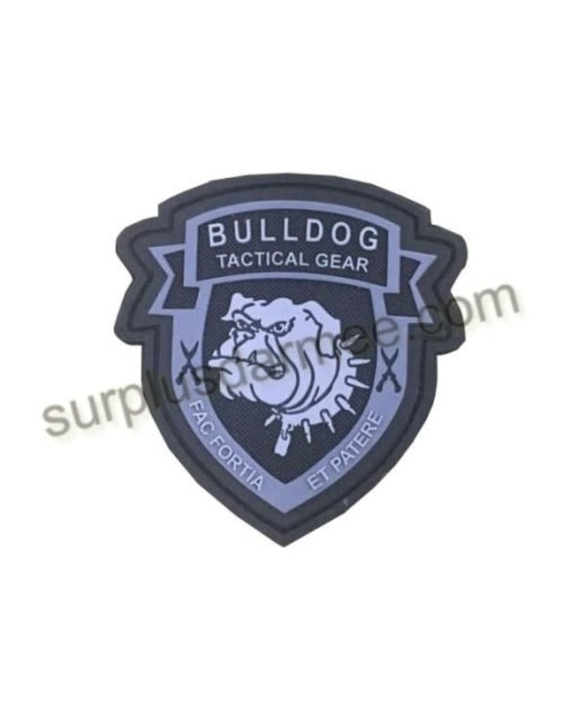 SHADOW Patch PVC Velcro Tactical BullDog Blk/Grey