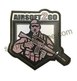 SHADOW Patch PVC Velcro Chandail Airsoft 2 Go Green