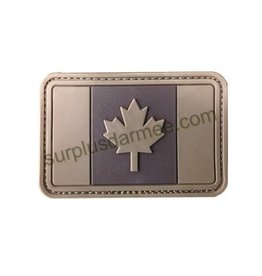 SHADOW Patch Canada PVC Velcro Canadian Flag Tan