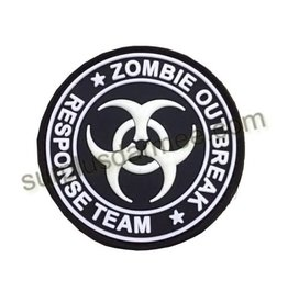 SHADOW ELITE Patch PVC Velcro Biohazard Black