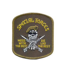 ROTHCO Patch Special Force Mess w/best Sans Velcro