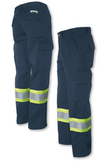 GATTS Pants Cargo Working Gats Navy Reflective Tape