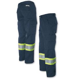 GATTS Pantalon Gatts de travail Cargo Bande Reflectif Marine